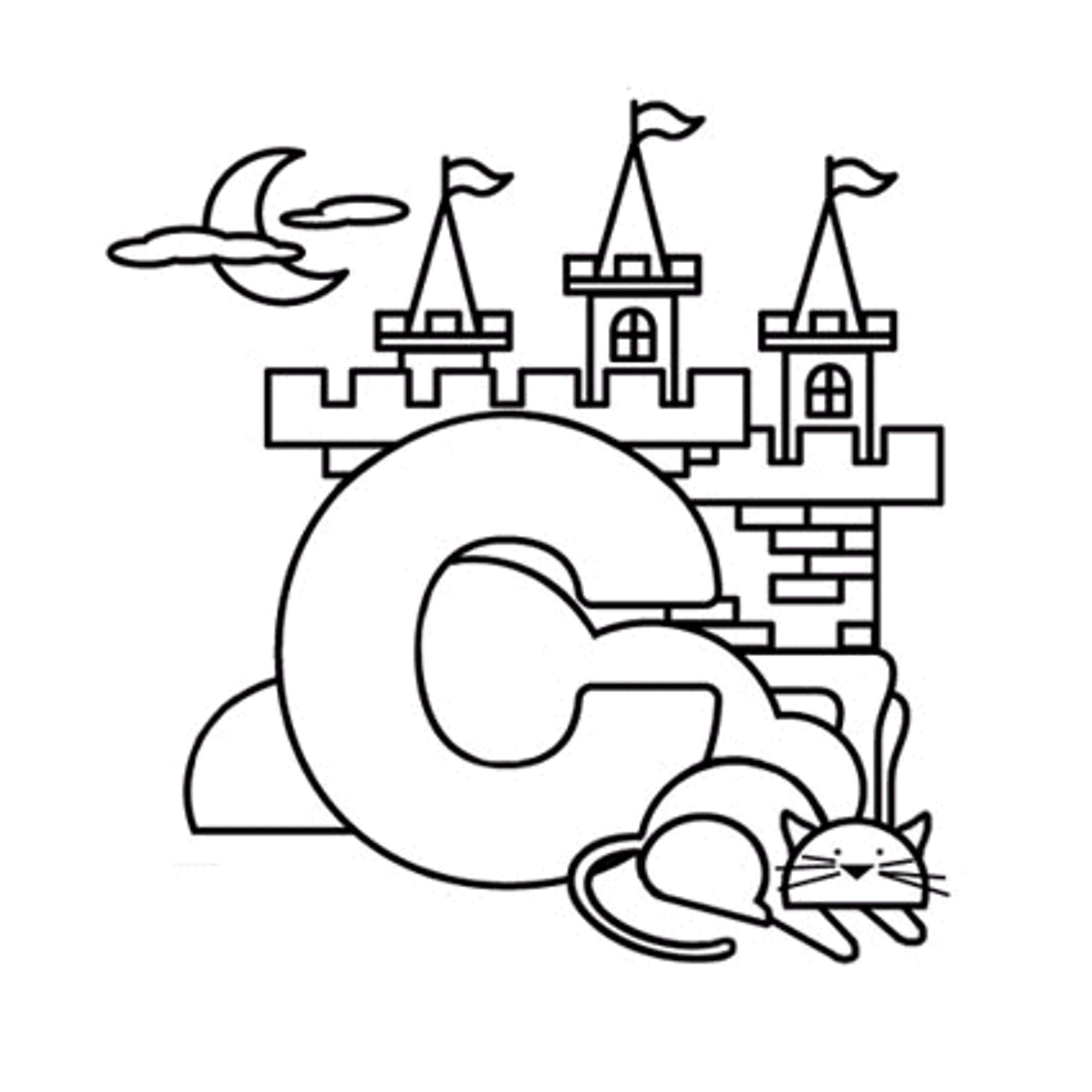 2000x2000 Letter C With Animals Coloring Page Free Printable Pages Within