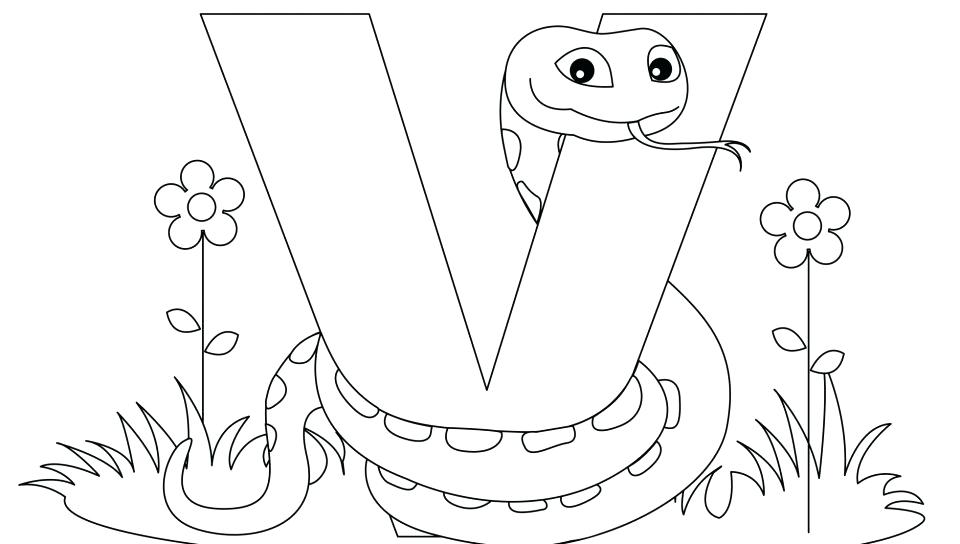 960x544 Letter V Coloring Pages Alphabet Letter V Coloring Page Free Pages