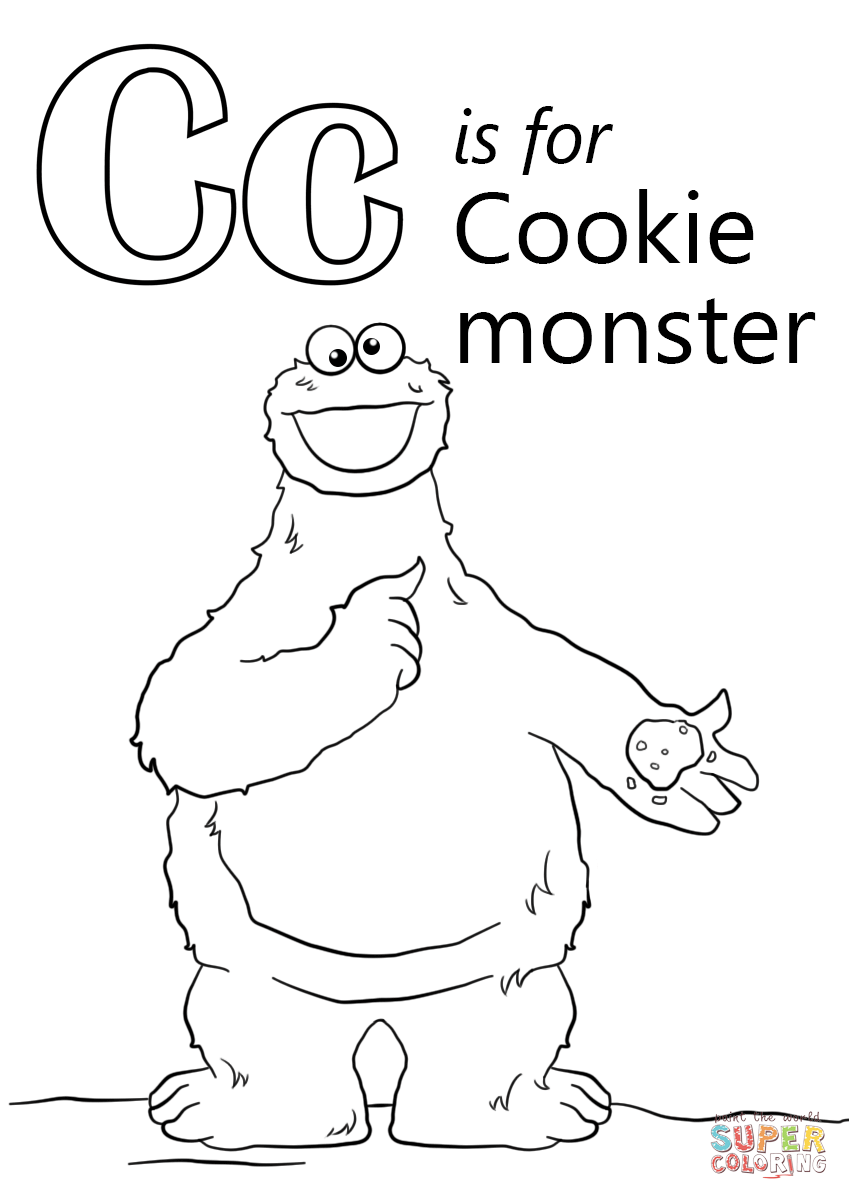 849x1200 Letter C Is For Cookie Monster Coloring Page Free Printable Cookie