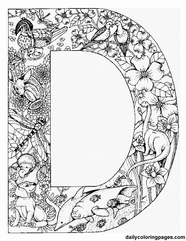 Letter Coloring Pages For Adults at GetDrawings.com | Free ...
