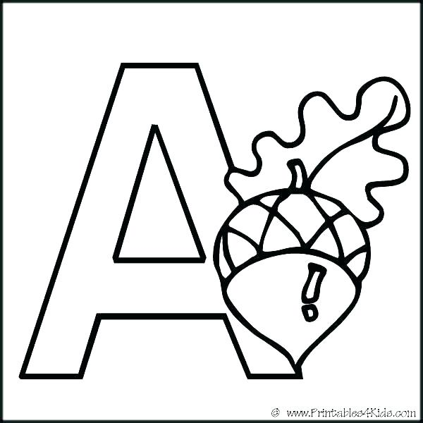 600x600 Letter A Coloring Pages Printable Letter Coloring Pages Free