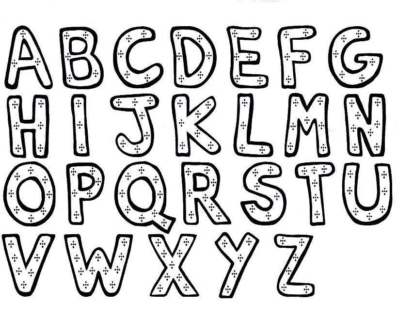 819x660 Letter Coloring Pages