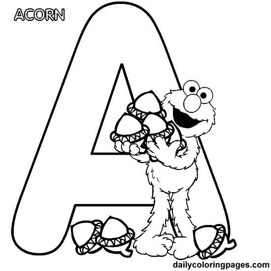 550x550 Sesame Street Letter Coloring Pages