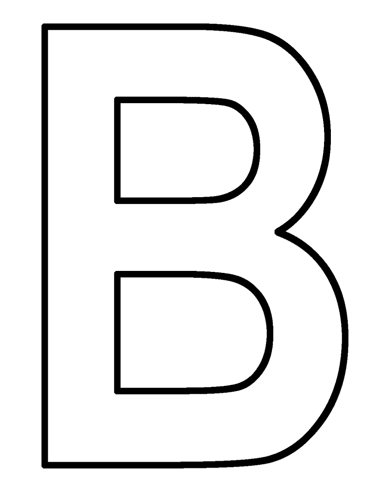 750x1000 Best Letter B Coloring Pages Kids