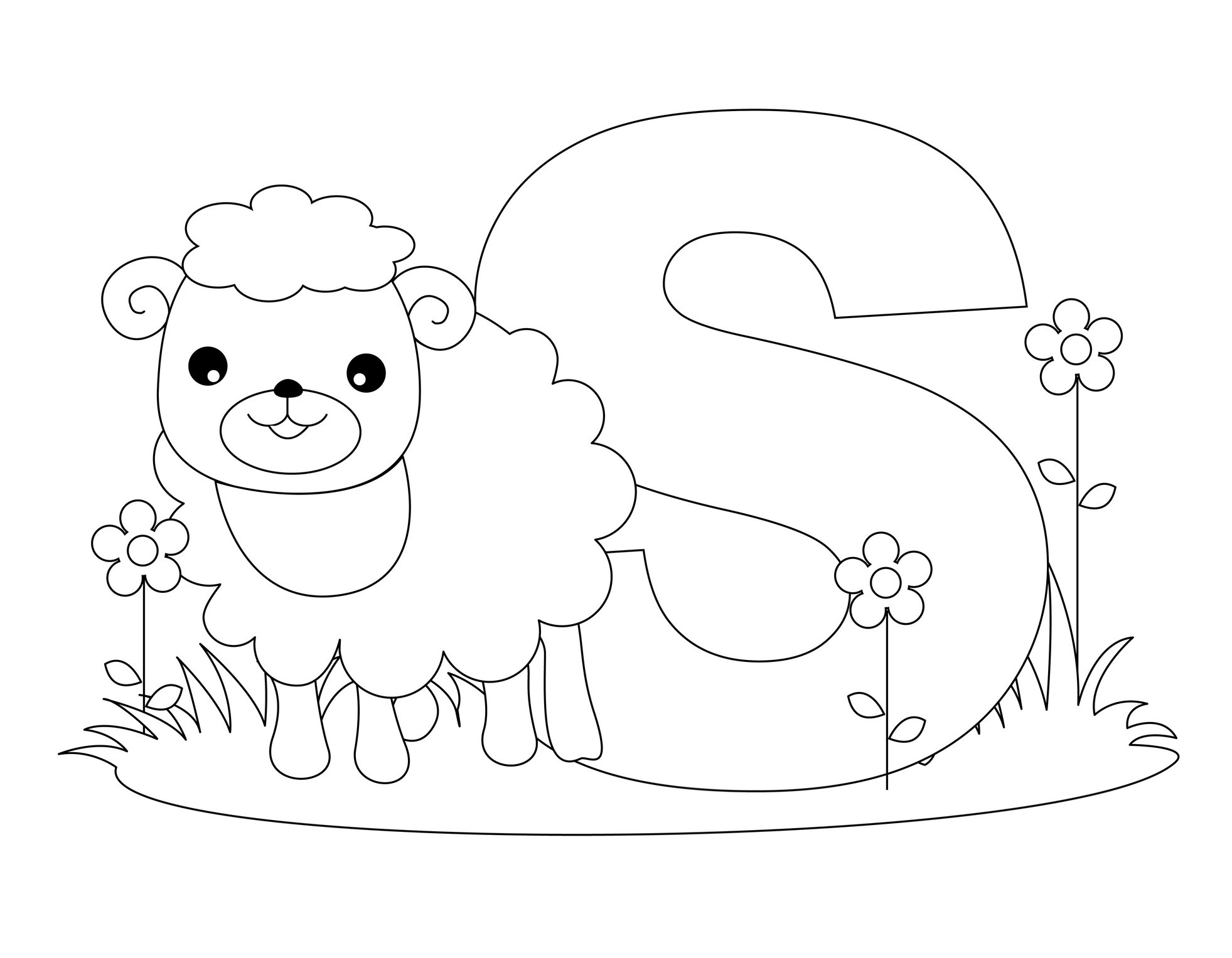 1963x1527 Bright Ideas Letter S Coloring Pages Free Printable Alphabet