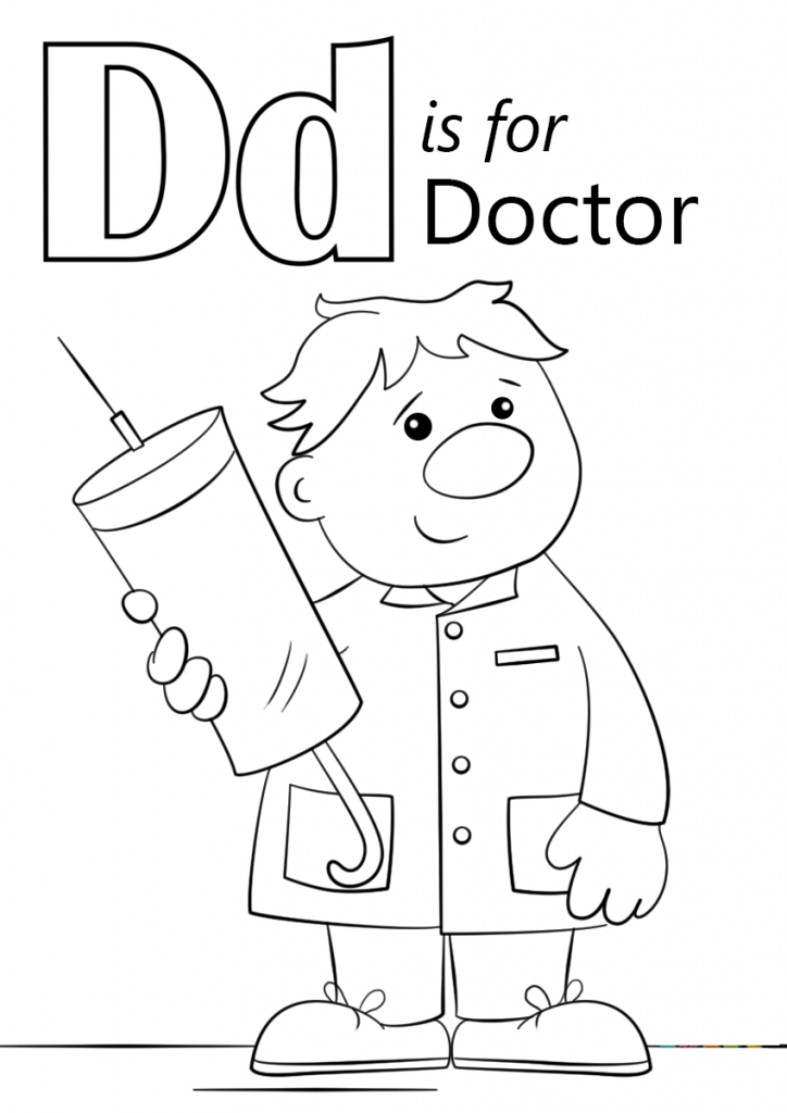 724x1024 Letter D Is For Doctor Coloring Page Download