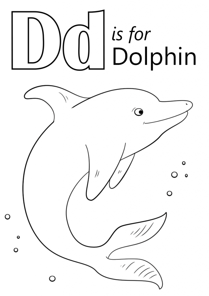724x1024 Letter D Is For Dolphin Coloring Page Download