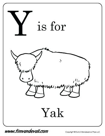 350x453 Y Coloring Pages Y Is Yak Letter Y Coloring Pages Flowers