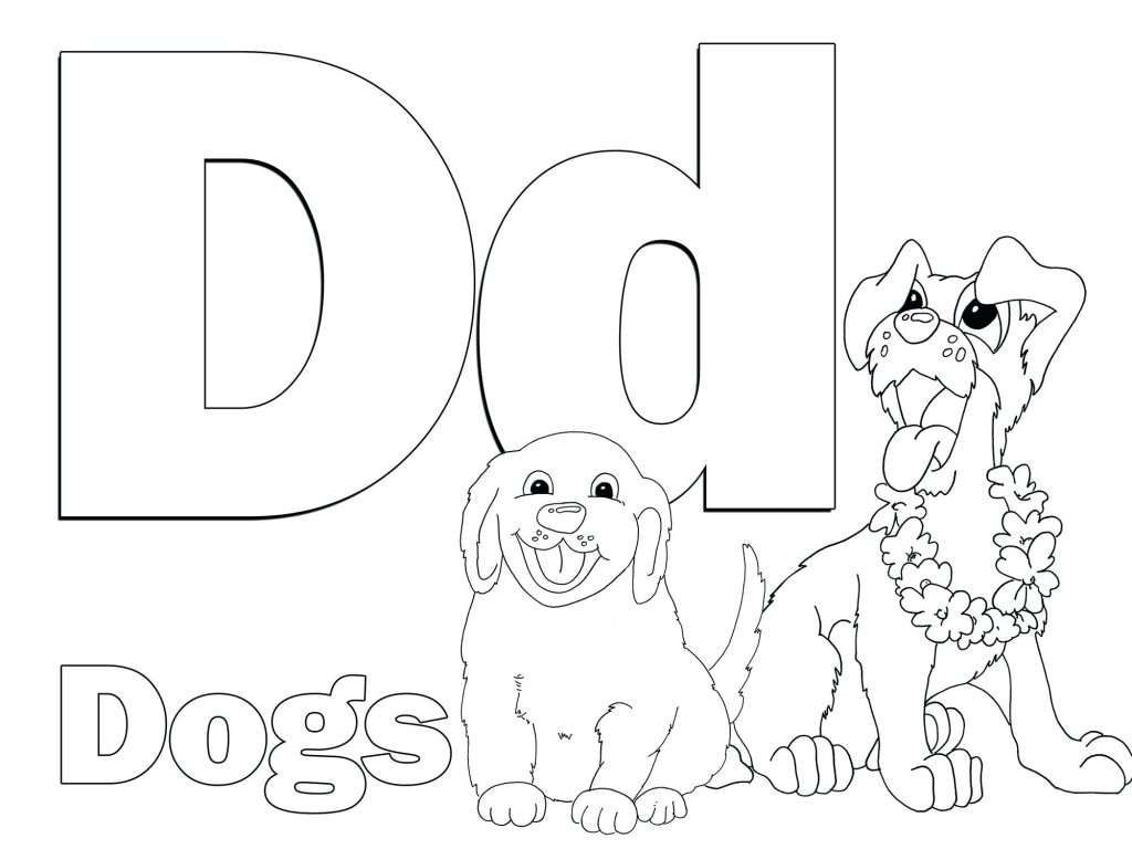 1024x768 Coloring Pages Letter D Coloring Pages Is For Dolphin Animal