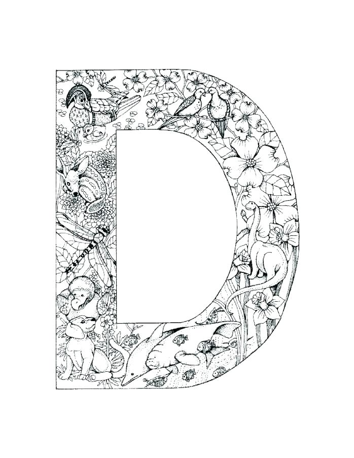 698x903 Free Printable Letter D Coloring Pages The Letter D Coloring Pages