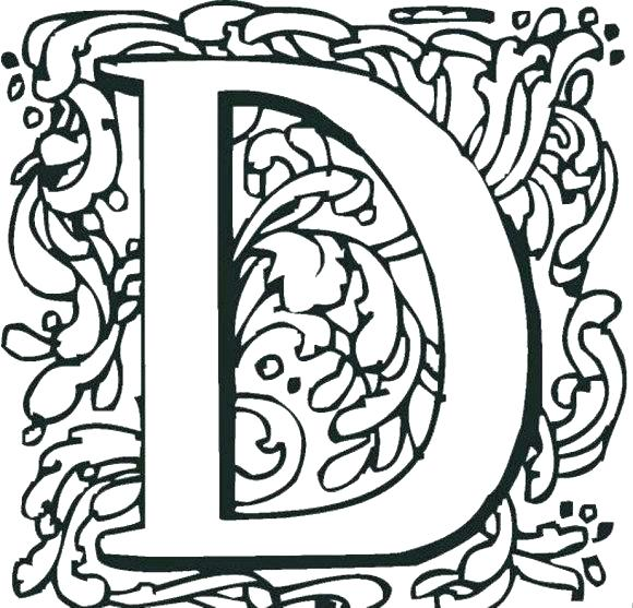 580x557 D Coloring Pages Letter N Coloring Page Letter N Colouring D