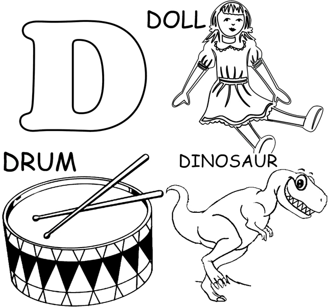 650x600 D Coloring Pages Preschool Letter D Coloring Pages Free Printable