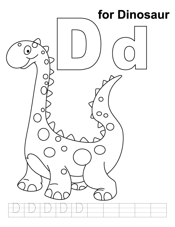 612x792 D Coloring Page Coloring Pages The Letter D Letter D Is