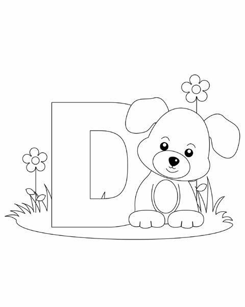 480x600 Letter D Coloring Page Abc Coloring Pages