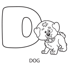 230x230 Letter D Coloring Pages For Toddlers Colouring In Funny Paint