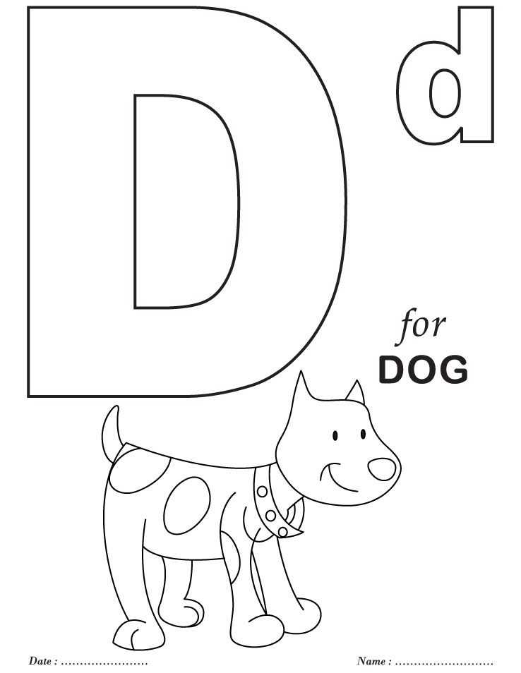 738x954 Alphabet Coloring Pages Preschool Luxury Letter D Coloring Pages