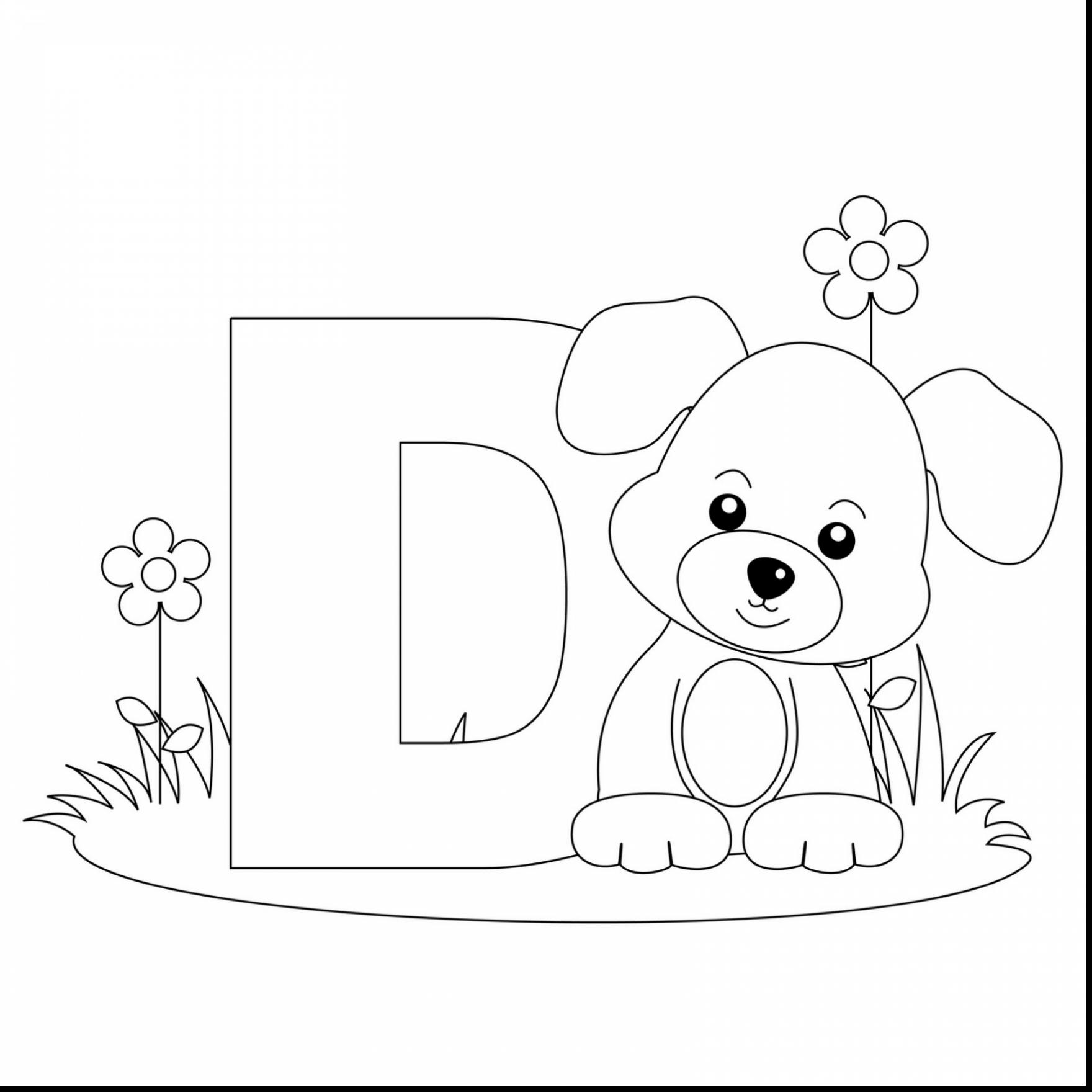 1760x1760 Beautiful Alphabet Letter Worksheet With D Coloring Pages