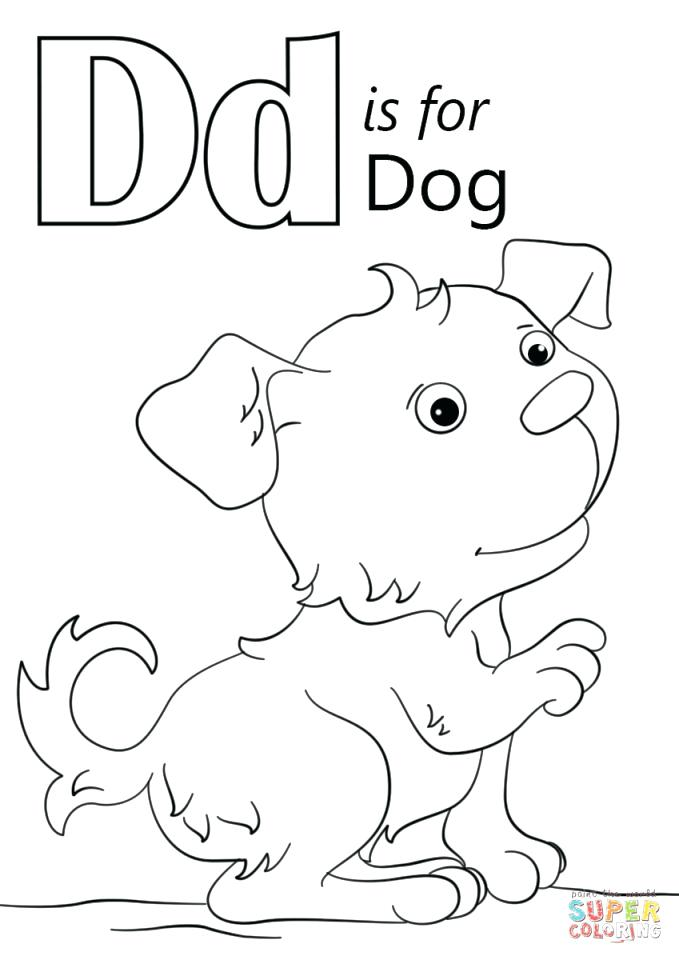 679x960 D Coloring Page