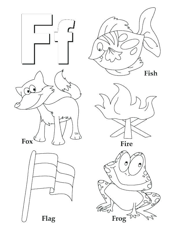 612x792 Preschool Alphabet Coloring Pages