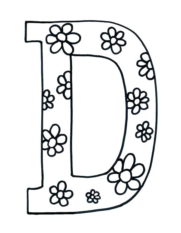 600x774 D Coloring Pages Letter D For Coloring Letter U Coloring Page