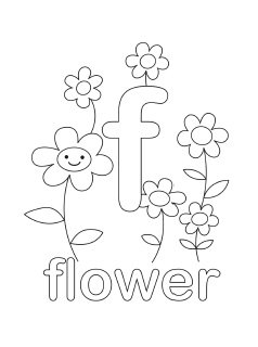 Letter F Coloring Page At Getdrawings Com Free For Personal Use