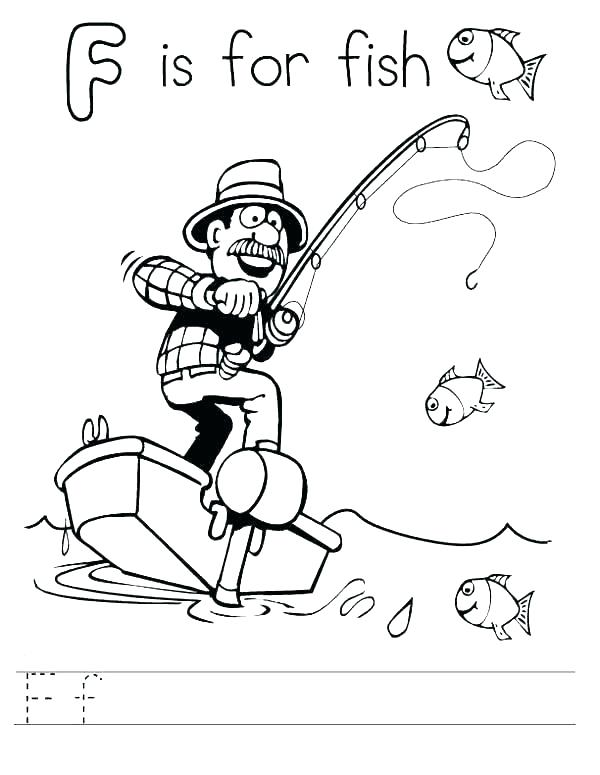 600x775 Letter F Coloring Pages For Preschoolers