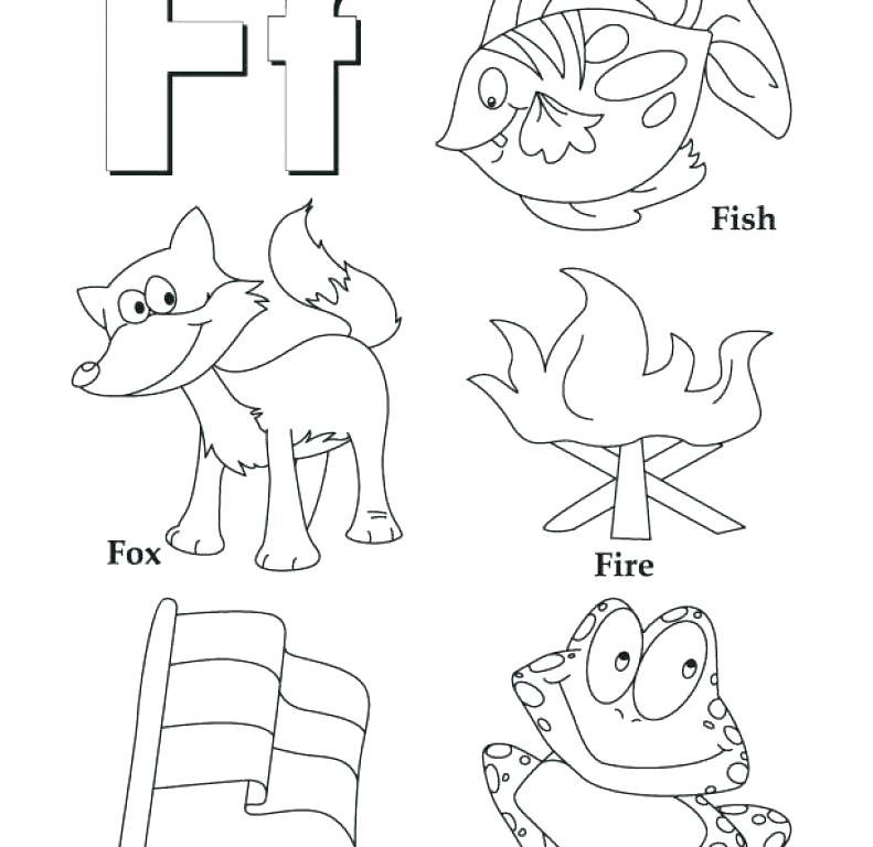791x768 Letter F Coloring Pages Letter F Coloring Pages Fish Letter