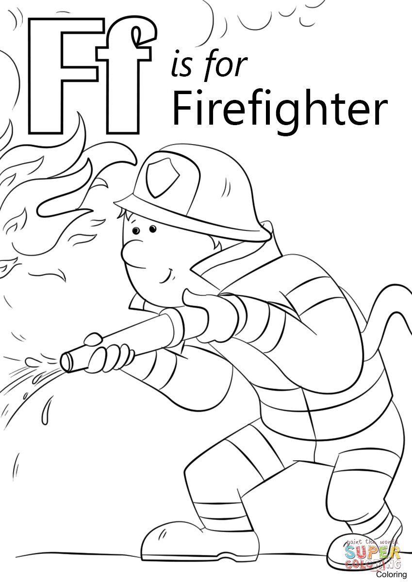 849x1200 Letter F Coloring Sheet