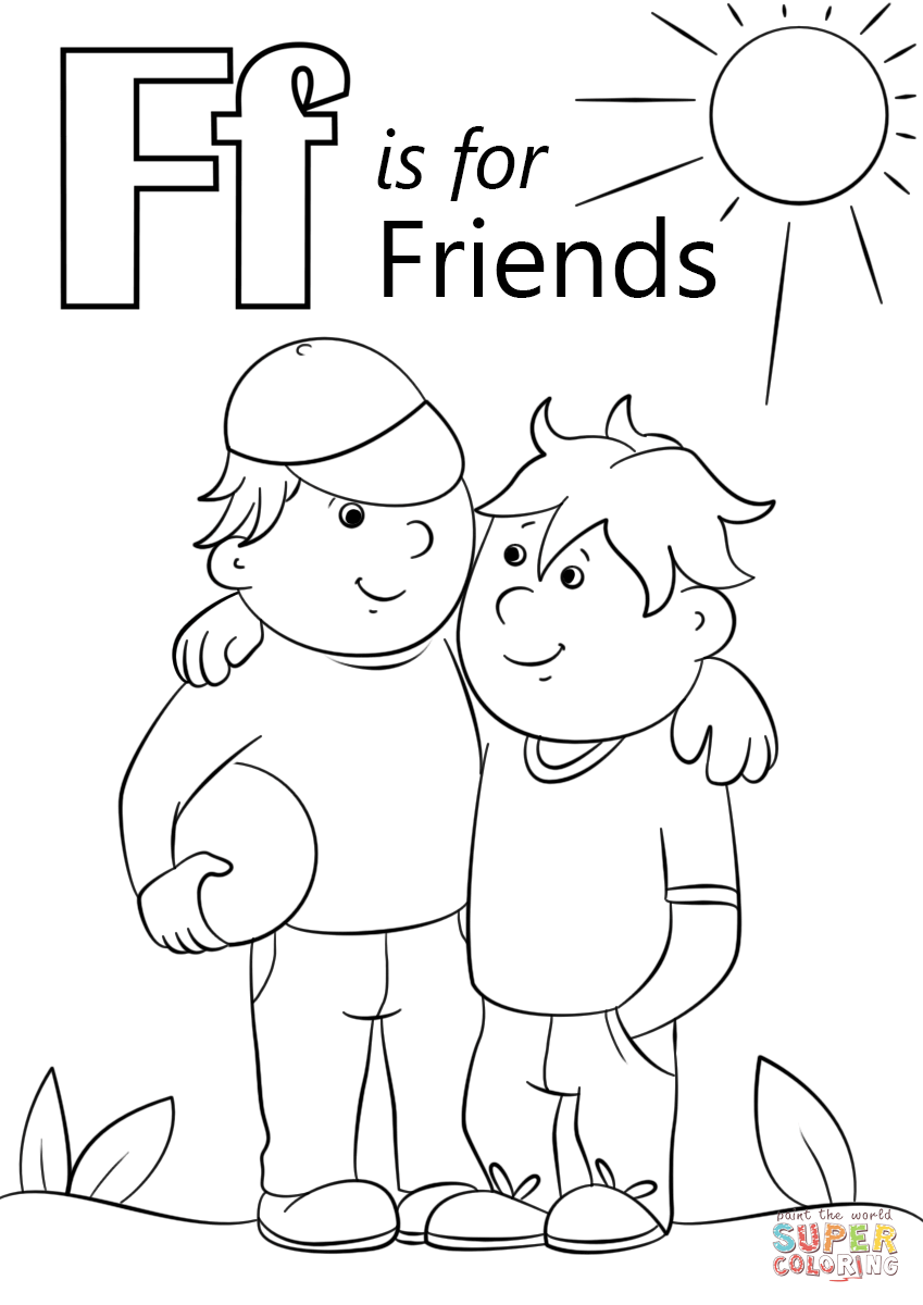 849x1200 Letter F Is For Friends Coloring Page Free Printable Pages