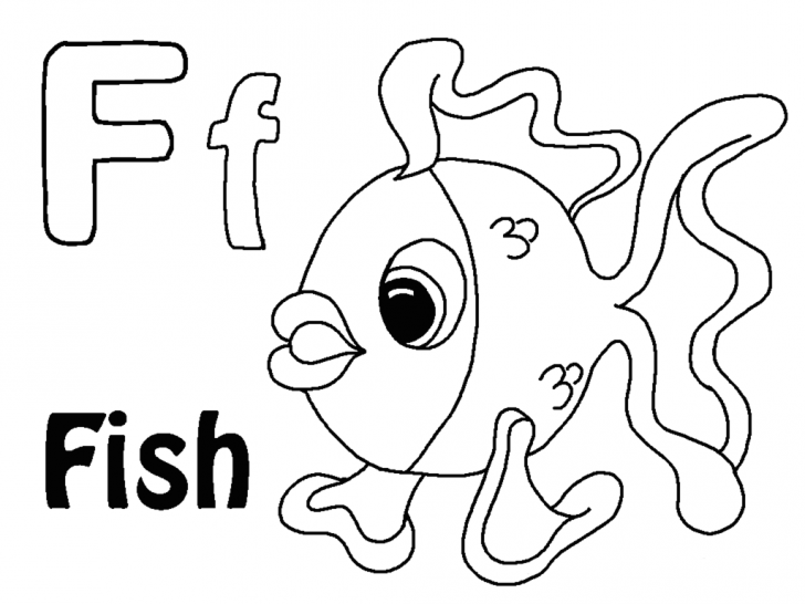 728x546 Letter F Is For Frog Coloring Page Printable Pages Click