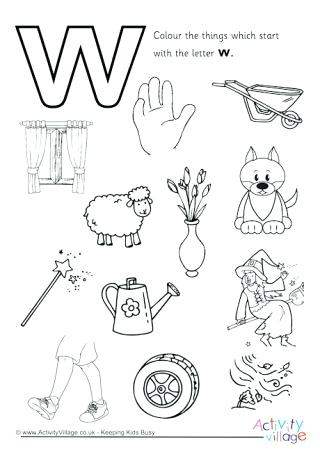 320x452 Letter W Coloring Pages Start With The Letter W Colouring Page