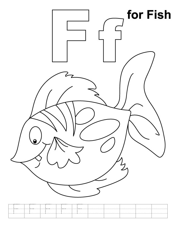 612x792 Preschool Letter F Coloring Pages