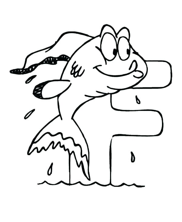600x734 F Coloring Page