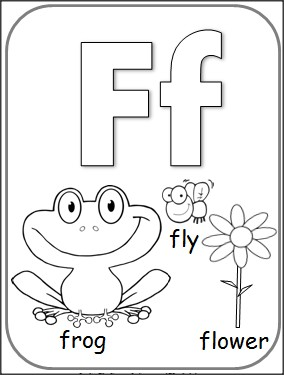 284x375 Free Letter F Alphabet Coloring Page