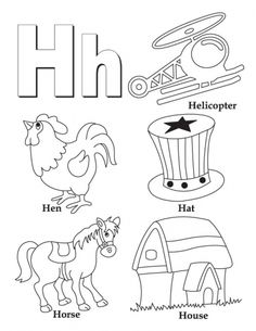 Letter H Coloring Pages For Toddlers