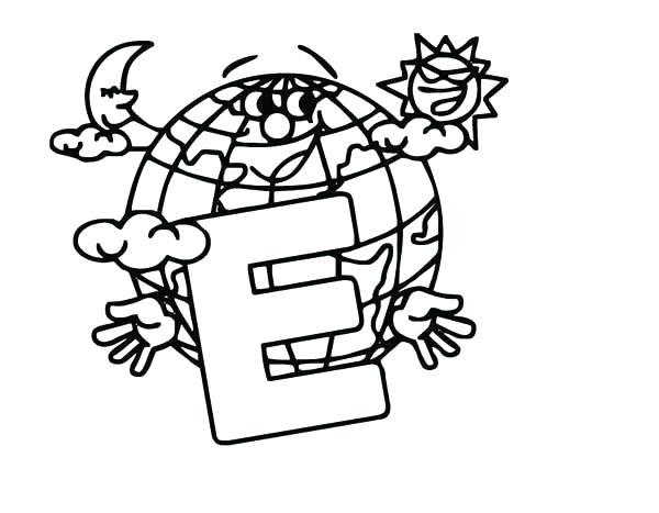 600x467 Letter E Coloring Page Letter E Coloring Pages For Preschoolers