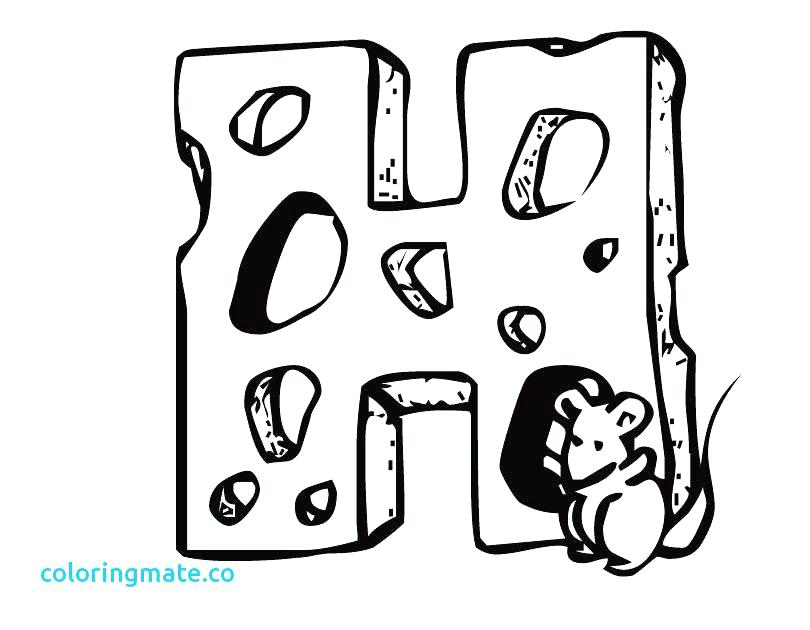 810x630 Letter H Coloring Pages Capital Letter H Coloring Page Alphabet