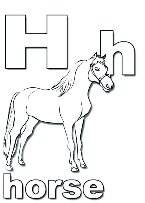 Letter H Coloring Pages Preschool At Getdrawings Free Download