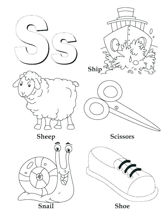 Letter Ii Coloring Pages