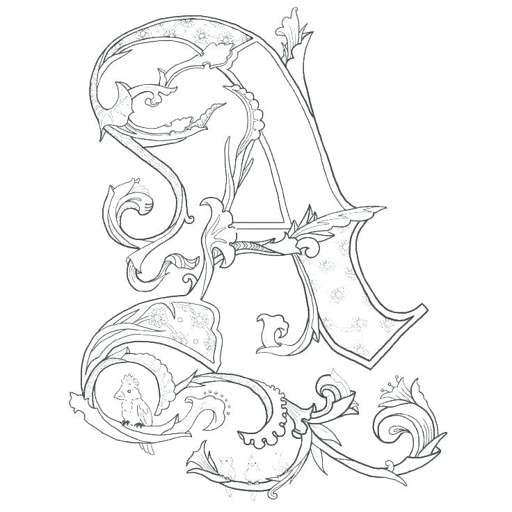 736x736 Coloring Pages With Letters