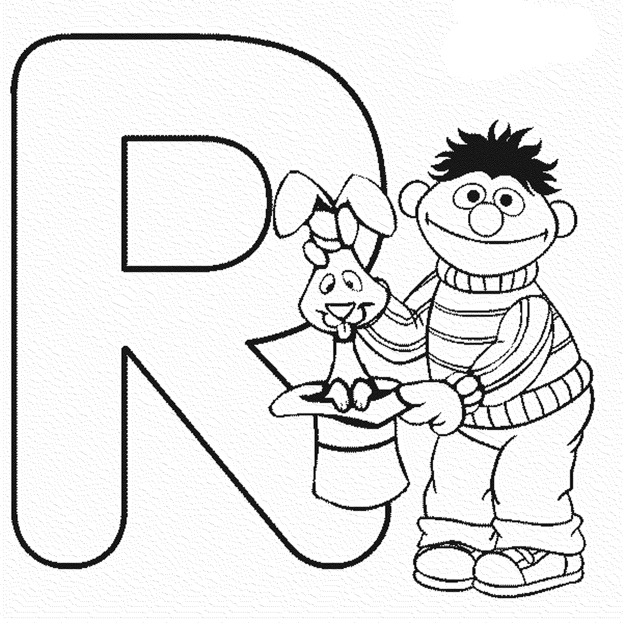 2000x2000 Letter R Sesame Street Coloring Pages Alphabet