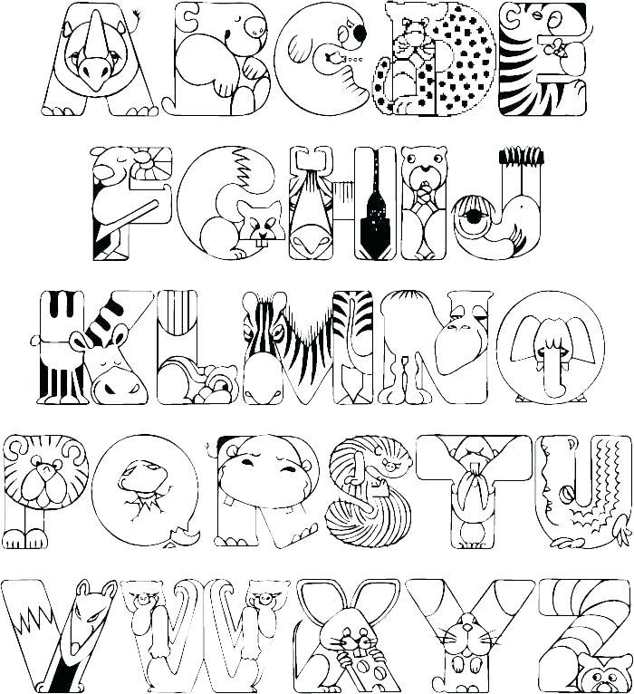 700x766 Alphabet Letter Coloring Sheets Printable Alphabet Letters