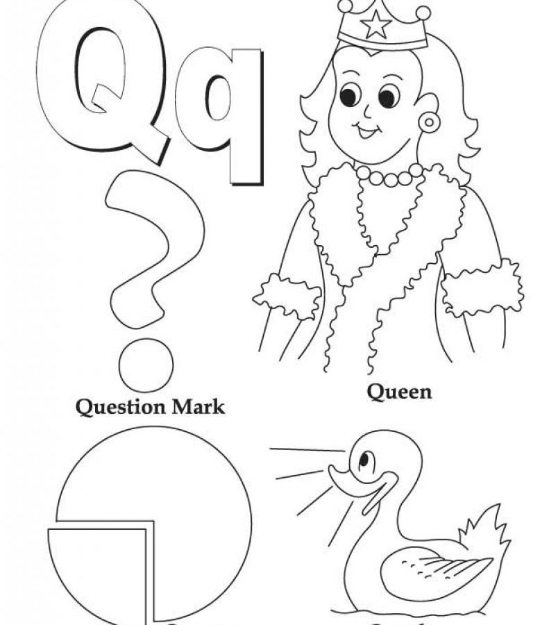 791x900 Alphabet Letter Q Coloring Page Free Pages For Preschool Kids High