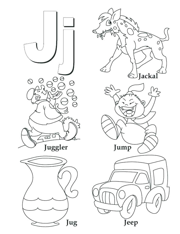 742x960 J Coloring Pages Letter J Coloring Page For Jellyfish Coloring