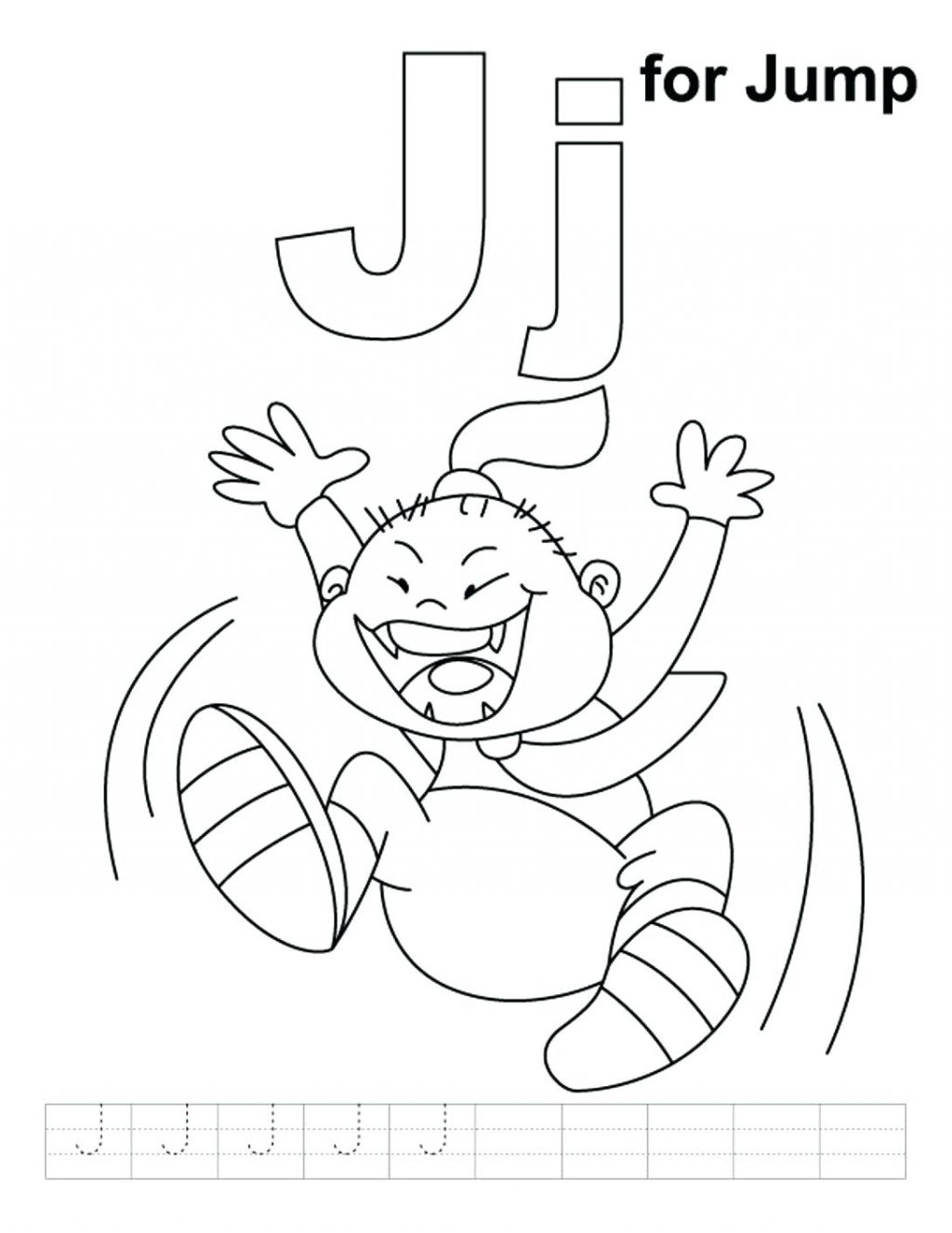 1024x1326 Coloring Page Letter J Coloring Page Is For Jump Alphabet Pages