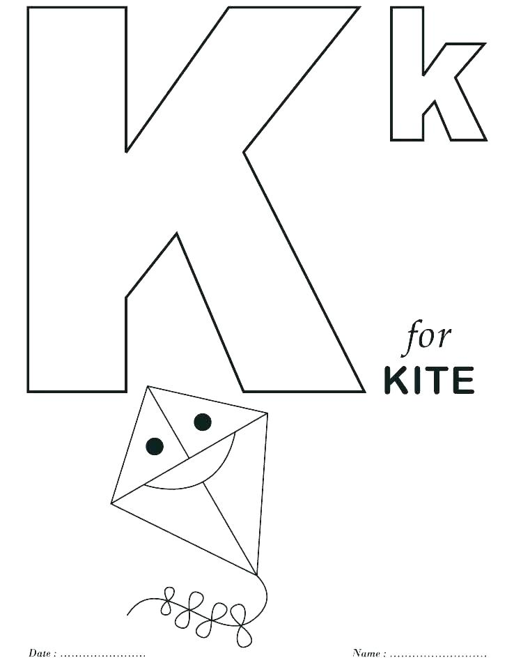 Letter K Coloring Page At Getdrawings Com Free For