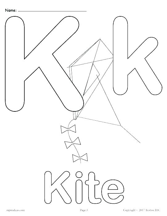 Letter K Coloring Pages For Preschoolers At Getdrawings Com