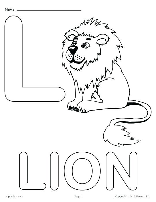 Letter L Coloring Pages Preschool At Getdrawings Com Free