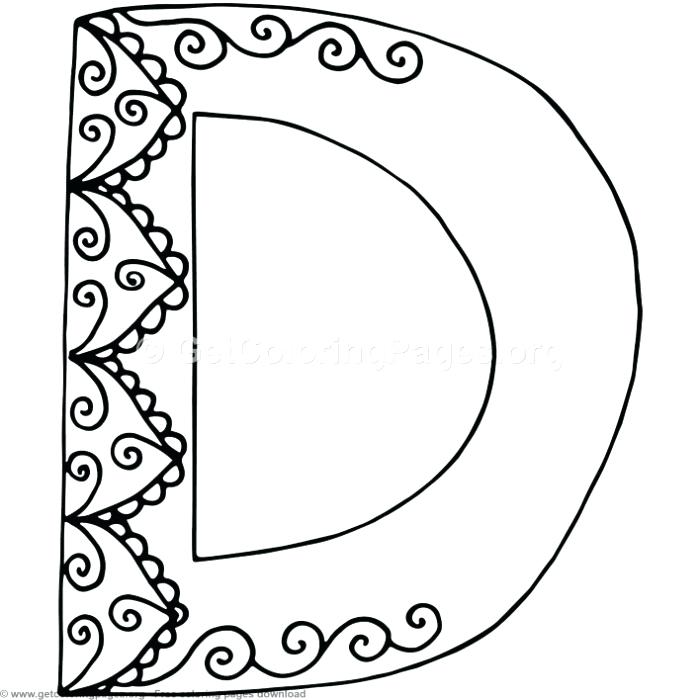 700x700 Letter D Coloring Sheet Flower Inspired Alphabet Letter D Coloring