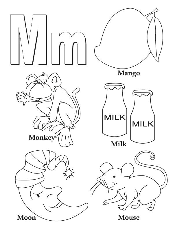 612x792 Letter M Coloring Pagesnd Letter M Coloring Pages Letter